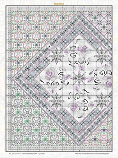 Blackwork Cross Stitch, Blackwork Embroidery, Cross Stitch Tree, Just Cross Stitch, Cross Stitch Borders, Cross Stitch Charts, Cross Stitch Designs, Cross Stitching, Cross Stitch Embroidery
