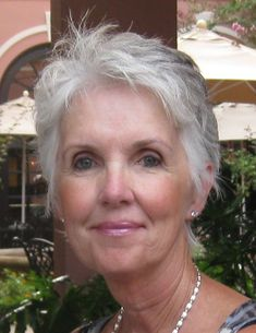 the lady in the pictures said: So, there it is- my silver hair! Taken by my friend,Sue, with her iphone. We were on an adventure to Charleston, SC. How lovely she is. Short Grey Hair, Short Hair Cuts, Short Hair Styles, Silver Haired Beauties, Silver Grey Hair, Hair Care Tips, Pretty Hairstyles, Scene Hairstyles, Great Hair