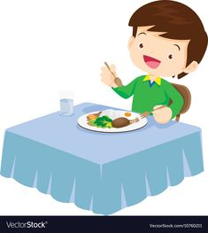 Cute Boy eating so happy and delicious vector image on VectorStock Cartoon Picture, Cartoon Pics, Teaching Kindergarten, Preschool, Book Cafe, Flashcard, Character Illustration, Clipart, Cute Boys