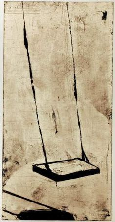 Swing, aquatint print with lift ground etching by Ozeki