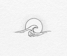 Body – Tattoo's – 60 of The Best Wave Tattoo Designs Mini Tattoos, Body Art Tattoos, Small Tattoos, Beach Tattoos, Small Beach Tattoo, Small Wave Tattoo, Ocean Wave Tattoos, Beach Inspired Tattoos, Small First Tattoos