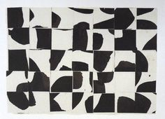 Ellsworth Kelly, Brushstrokes cut into thirty five squares and arranged by chance on ArtStack #ellsworth-kelly #art