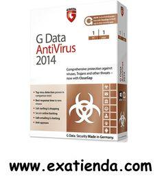 Ya disponible Antiv. gdata av 2014 1lc   (por sólo 26.99 € IVA incluído):   - GDATA AntiVirus 2014 1PC (12 meses)  - - La protección más completa frente a virus, troyanos y resto de amenazas ahora con G Data CloseGap  - G Data AntiVirus 2014 blinda su sistema: Máxima seguridad gracias a la nueva tecnología - G Data CloseGap: Protección Híbrida Activa y un tiempo de reacción frente a amenazas globales y locales inmejorable. - El optimizado G Data BankGuard ofrece m�