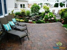 Backyard Patio, landscape, pergola and pond designed and installed by Topaz Design Group