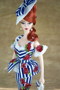 Creations, specializes in one-of-a-kind doll designs, formed by fashion designer, Mario Paglino and graphic art director, Gianni Grossi. Slim Fit Dresses, Nice Dresses, Ooak Dolls, Barbie Dolls, I Love Redheads, Barbie Model, Doll Parts, Barbie Collection, Barbie Friends