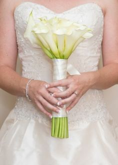 White calla lily wedding bouquet  Real Brides by Julia Rose- Floral Designer