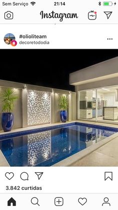 29 super Ideas for modern landscape design backyard pools – pool ideas Small Swimming Pools, Small Pools, Swimming Pools Backyard, Swimming Pool Designs, Backyard Pool Designs, Small Backyard Pools, Modern Landscaping, Pool Landscaping, Piscina Rectangular