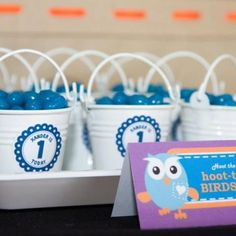 Hoot-tastic Birdseeds... Thinking up clever ideas to suit the Giggle and Hoot theme party :)