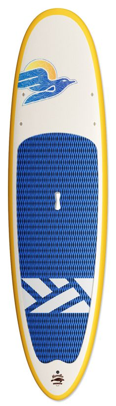 Manatee Vintage. This all-around board is excellent for beginners and those looking to have fun. This is a solid, stable and maneuverable board.  You can do it all with this one. Great for fitness and leisure paddling, yoga, small surf and fishing. Available in Bamboo, Innegra/Glass and Soft Top construction, Handmade in the USA www.indigo-sup.com