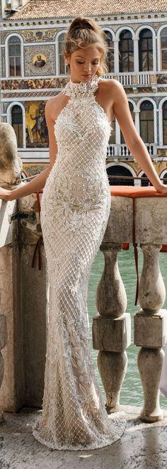 Bridal Trends: Halter Wedding Dresses | Julie Vino Spring 2018 Wedding Dress -Venezia Bridal Collection | High neck elegant bridal gown. Fitted sexy bridal dress. #weddingdress #weddingdresses #bridalgown #bridal #bridalgowns #weddinggown #bridetobe #weddings #bride #weddinginspiration #dreamdress #fashionista #weddingideas #bridalcollection #bridaldress #fashion #dress See more halter bridal dresses by clicking on the photo