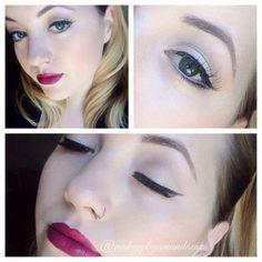 @makeupbyamandaenos MAC Rebel lipstick with Vino lip liner