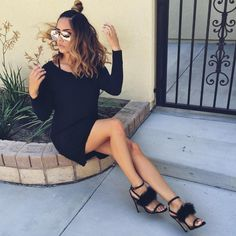 "1,256 Likes, 7 Comments - Mariah Longo (@mariahlongo) on Instagram: ""Hair flip 💁🏽  Shoes from @publicdesire   Sunglasses from @glamenvy"""