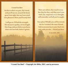 """Pet Lover Remembrance Gift, """"I Loved You Best"""", Memorial Pet Loss Picture Frame and Sympathy Gift Package Remembrance Poems, Animal Poems, Pet Loss Grief, Story Poems, Pet Loss Gifts, Sympathy Gifts, Rainbow Bridge, In Loving Memory, Pet Memorials"""