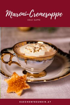 Eine feine Suppe, für ein elegantes Menü. Mit Maronen und Sellerie, einfach und schnell zu machen. Damit adelst du kulinarisch jedes Weihnachtsfest. Tart, Panna Cotta, Hallo Winter, Ethnic Recipes, Foodblogger, Celery Recipes, Vegetarian Recipes, Dulce De Leche, Pie