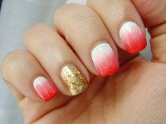 Cómo hacer efecto degradado en las uñas / how to ombre gradient fading e...