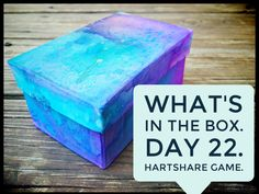 """Day 22 """"What's in the Box?"""" hARTshare FB Game. Come play with us at…"""