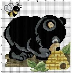 Bear cross stitch.