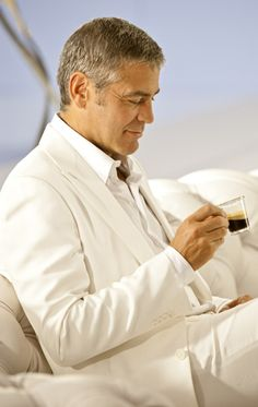 Clooney and coffee. {My two favorite C's other than Coco and Chanel.}