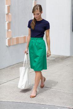 2 Button Belt Skirt de Emerson Fry