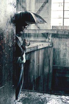 .....☂ attente sous la pluie.....☂