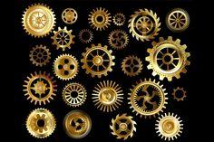 Set of Gears ( Steampunk ) By blackmoon9