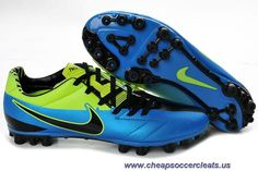 new arrival 43791 21b1c Discounts Blue Black Green Nike Total90 Laser IV AG Green Football Boots,  Mens Soccer Cleats