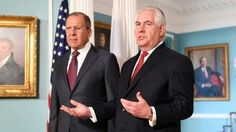 U.S MAINTAINS SANCTIONS ON RUSSIA AS REX TILLERSON MEETS RUSSIA'S SERGEY LAVROV