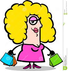 Image result for lady shopper cartoon