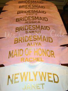 Custom Oversized Spirit Jersey Brides Bridesmaids by MiasOhSewCute