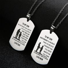 Stainless Steel Pendant Necklaces With Customized Logo, Name, ETC. #jewelry #necklace