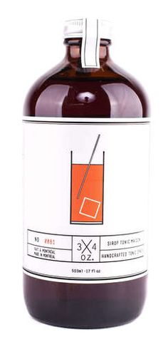Tonic Syrup - Original and unique, OZ. Tonic Syrup will enhance your parties, please your guests or even be th Cola Syrup, Tonic Syrup, Cocktail Mix, Host Gifts, Tonic Water, Orange Zest, Elderflower, Ginger Ale, Non Alcoholic