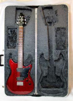 Fender 1991 Heartfield RR58 Crimson Transparent Guitar With Original Case No RSR