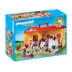 Playmobil Country Horse Stables Series new arrival in our shop. They are: 5348 Mein Pferdestall zum Mitnehmen (Limited . Play Mobile, Playmobil Country, Horse Adventure, Playmobil Sets, Two Horses, Horse Stalls, Horse Farms, Saddles, Horses