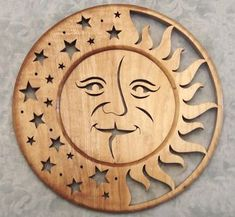 Scroll Saw Pattern - love the Moon and stars                                                                                                                                                      More #Scrollsawpatterns