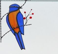 Image result for stained glass bluebird