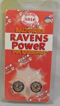 Baltimore Ravens Halo Sports Inc. Womens Power Pin Circular Stud Earrings