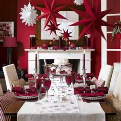 [ Red White Christmas Home Decoration Ideas Christmas Home Red Christmas Red Christmas Decorations ] - Best Free Home Design Idea & Inspiration Noel Christmas, Modern Christmas, Christmas And New Year, White Christmas, Beautiful Christmas, Christmas Ideas, Christmas Parties, Elegant Christmas, Christmas Wedding
