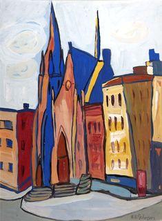 Church on Lenox Avenue, 1940, William Johnson William H Johnson, Henry Johnson, Harlem Renaissance Artists, Renaissance Artworks, African American Artist, American Artists, Mary Cassatt, Hieronymus Bosch, Canadian Art
