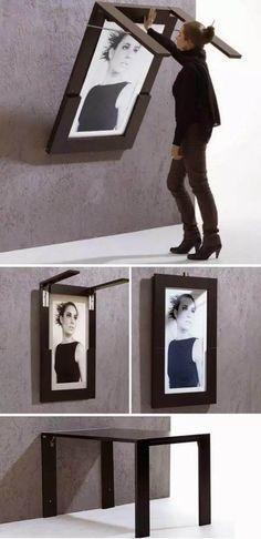 Artwork Transforms Into Fold-Down Table