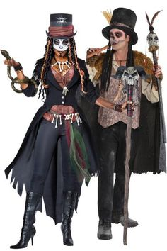 Combine your powers and cast voodoo spells together in Witch Doctors Couples Costumes for adults! Wear these adult witch doctor costumes for a fun couples costume idea. Witch Doctor Costume, Voodoo Costume, Voodoo Halloween, Witch Costumes, Voodoo Priestess Costume, Woman Costumes, Mermaid Costumes, Pirate Costumes, Halloween Costumes Online