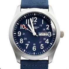 EYKI New Dark Blue Canvas Strap Quartz Daily Waterproof Wrist Watch Calendar Week Analog EYKI. $30.44