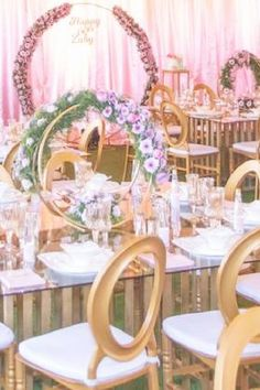 Take a look at the elegant rustic table settings with the most amazing floral decorations at this Parisian 60th birthday party. See more party ideas and share yours at CatchMyParty.com