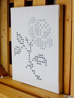 Ζωγραφιστή σταυροβελονιά σε καμβά – ftiaxto.gr