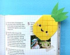 Pineapple bookmark - Red Ted Art's Blog