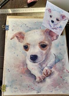 Custom Dog portrait Custom Dog Painting Custom Pet portrait