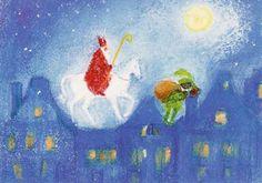 Father Christmas, Christmas Art, Christmas And New Year, Vintage Christmas, Chalkboard Drawings, Chalk Drawings, Chalkboard Art, Holly King, St Nicholas Day