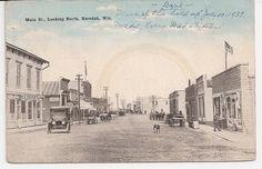 antique postcard Necedah Wisconsin main street