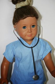 Free tutorial on how to make a Hospital Stethoscope for American Girl Doll