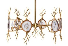 Branch Agate Chandelier, Gold- love love this light. Highly considering it somewhere