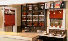 Under $500 Kitchen Makeovers: Consider open shelves for dishes/glassware